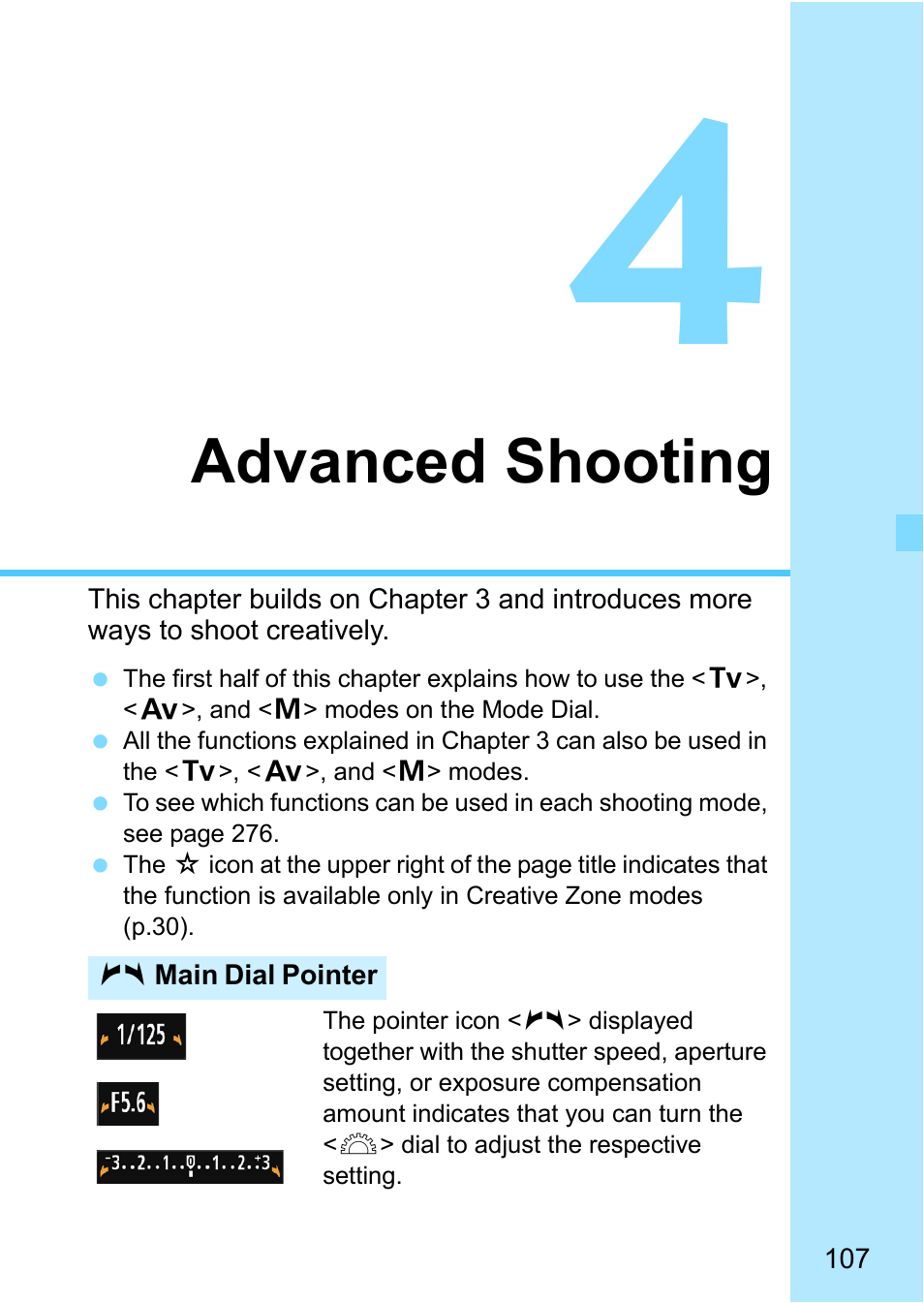 Advanced shooting   Canon EOS 1300D User Manual   Page 107