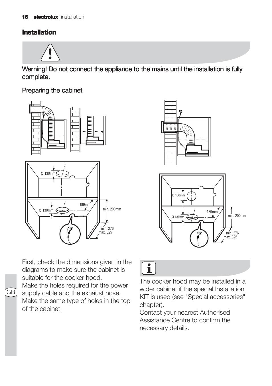 electrolux efp 60310 user manual page 16 24 original mode rh manualsdir com electrolux cooker hood troubleshooting electrolux range hood manual