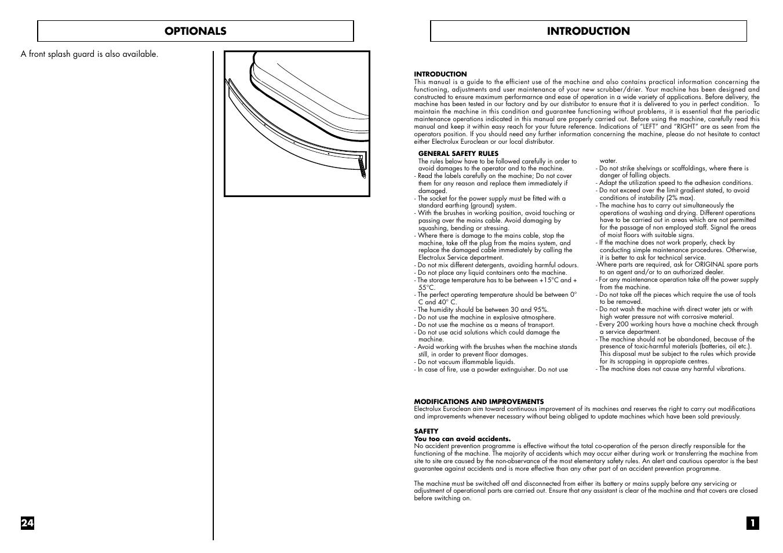 introduction optionals electrolux euroclean w 375 b user manual rh manualsdir com
