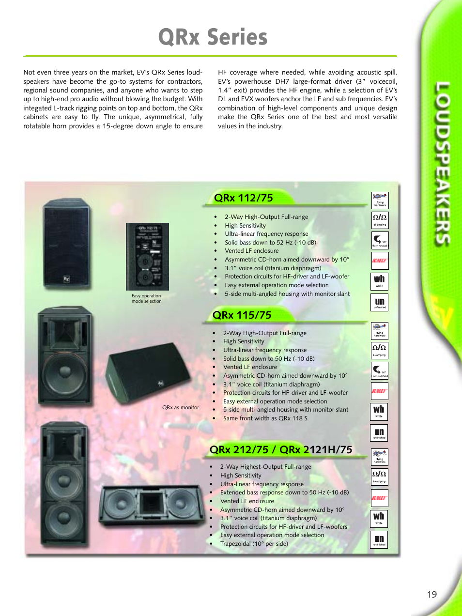 Qrx series | Electro-Voice Microphone User Manual | Page 19 / 92