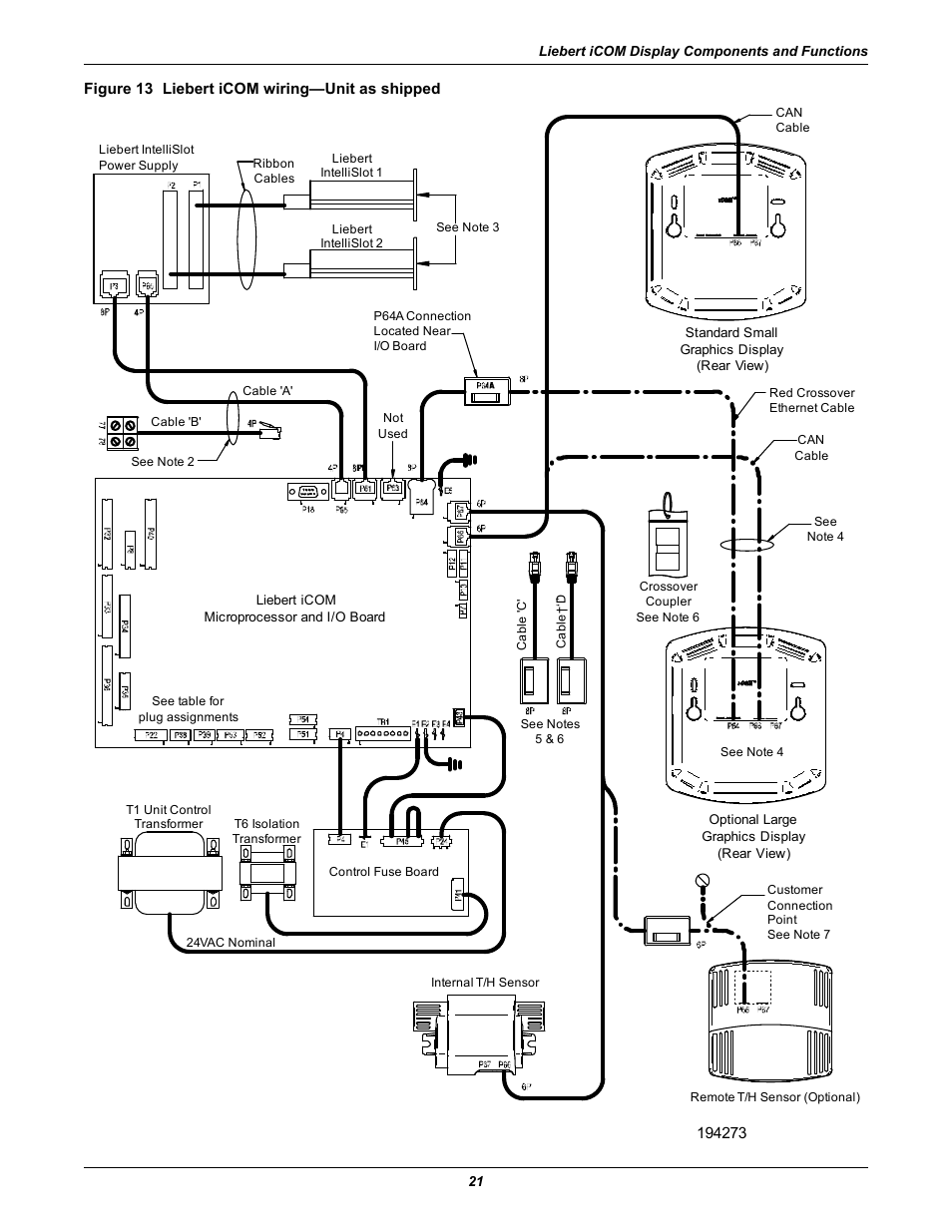 Figure 13 Liebert Icom Wiring Unit As Shipped Emerson Liebert Wiring  Liebert Diagram Gtx2-2000Rtb Liebert Wiring Diagram