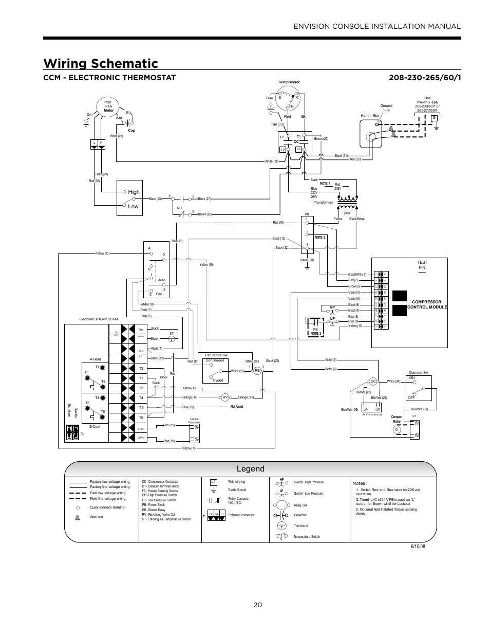 Water Furnace Wiring Diagrams Schematic Legend Envision Console Installation Manual Old Diagram