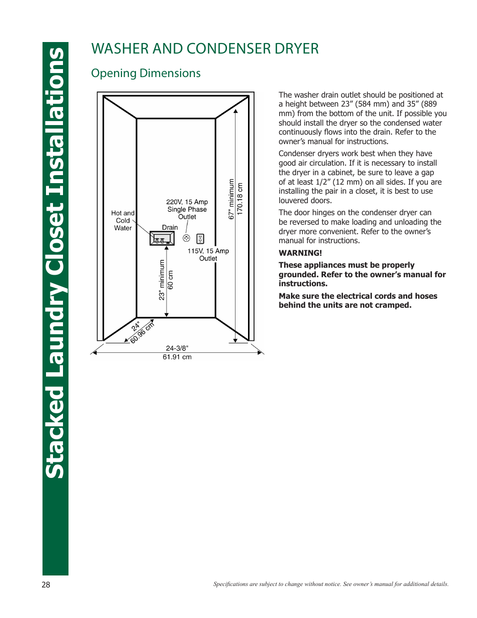 Minimum Closet Size For Stackable Washer Dryer Image Of Bathroom And Closet