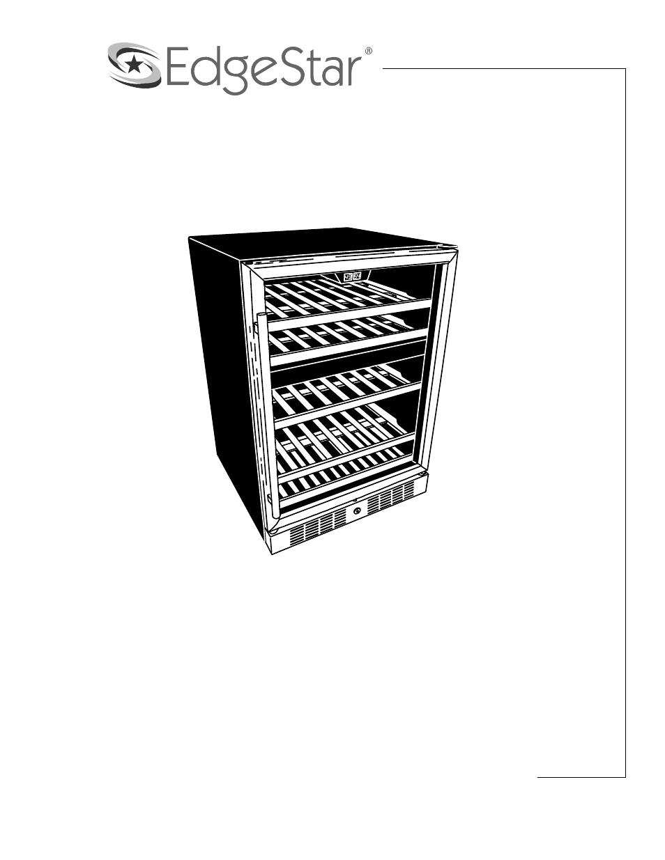 edgestar cwr460dz user manual 17 pages rh manualsdir com EdgeStar Kegerator EdgeStar Kegerator