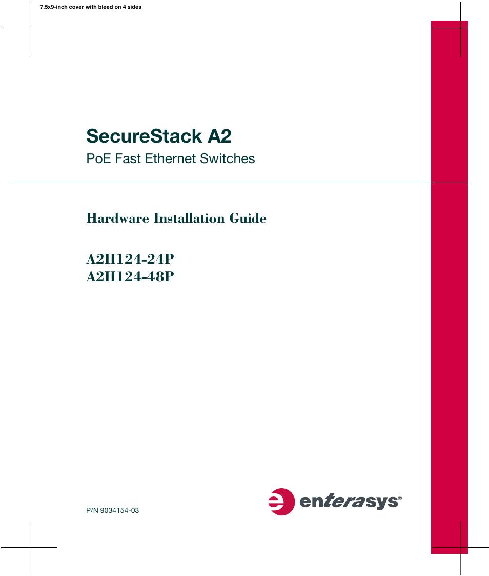 enterasys networks enterasys securestack a2 a2h124 48p user manual rh manualsdir com Clip Art User Guide Quick Reference Guide