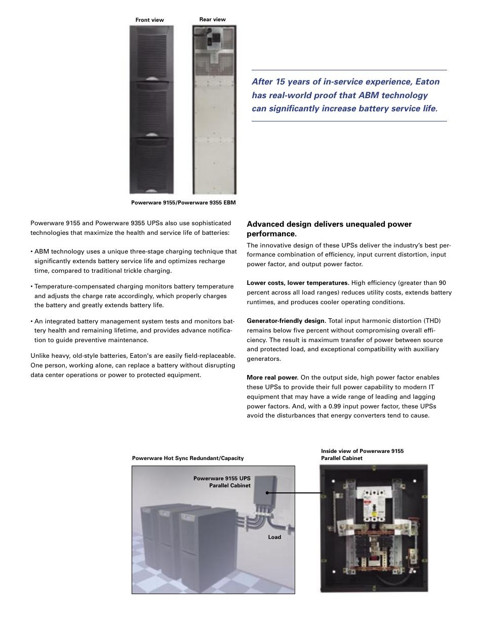 Eaton Electrical Powerware Single-phase UPS 9155 User Manual