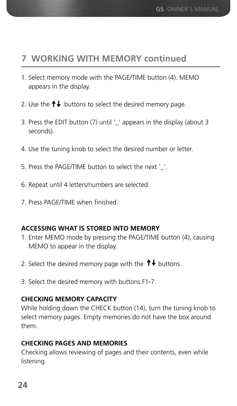 Eton Grundig G5 User Manual Manual Guide