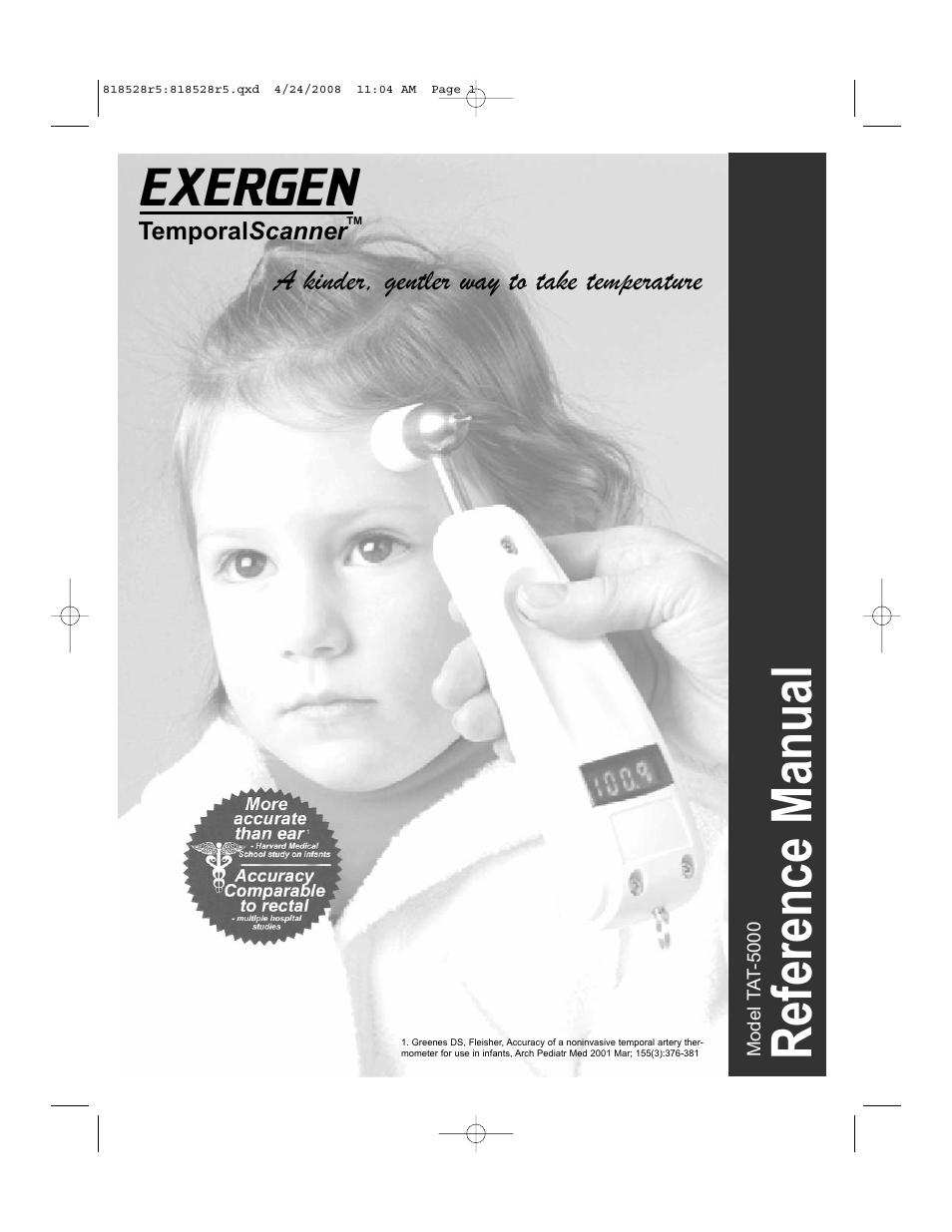Exergen Temporalscanner Tat Manual Guide