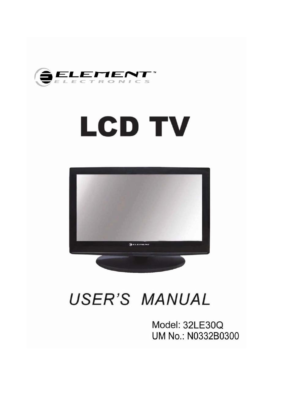element electronics 32le30q user manual 35 pages rh manualsdir com element 32 inch tv manual elst3216h element 32 inch tv elefw328 manual