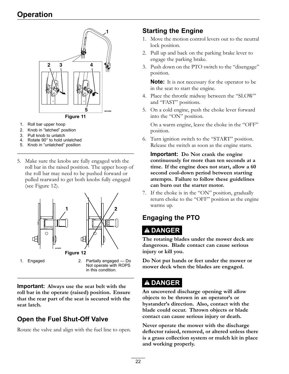 operation open the fuel shut off valve starting the engine rh manualsdir com exmark 708cc v-twin engine manual exmark 708cc engine manual