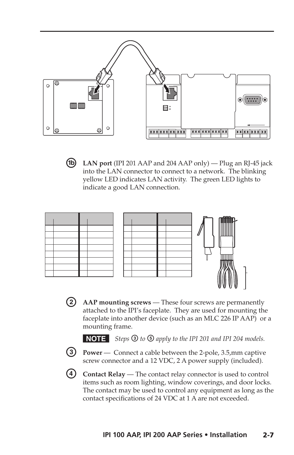 Ipi Rear Panel Features And Cabling Steps Extron Electronic Mlc Light Controller Wiring Diagram 100 Series User Manual Page 21