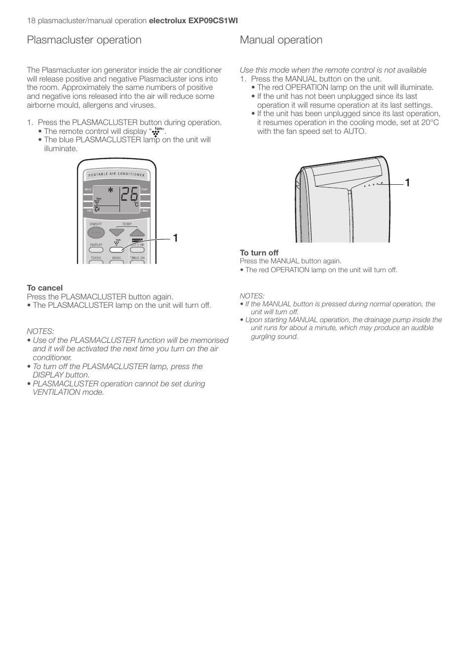 plasmacluster operation manual operation electrolux u31175 lu4 rh manualsdir com Home Depot Portable Generators Plug Portable Generator