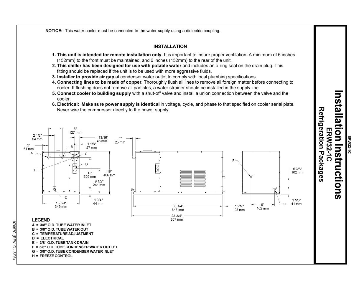 Elkay Erw32 1c User Manual 2 Pages Wiring Diagram