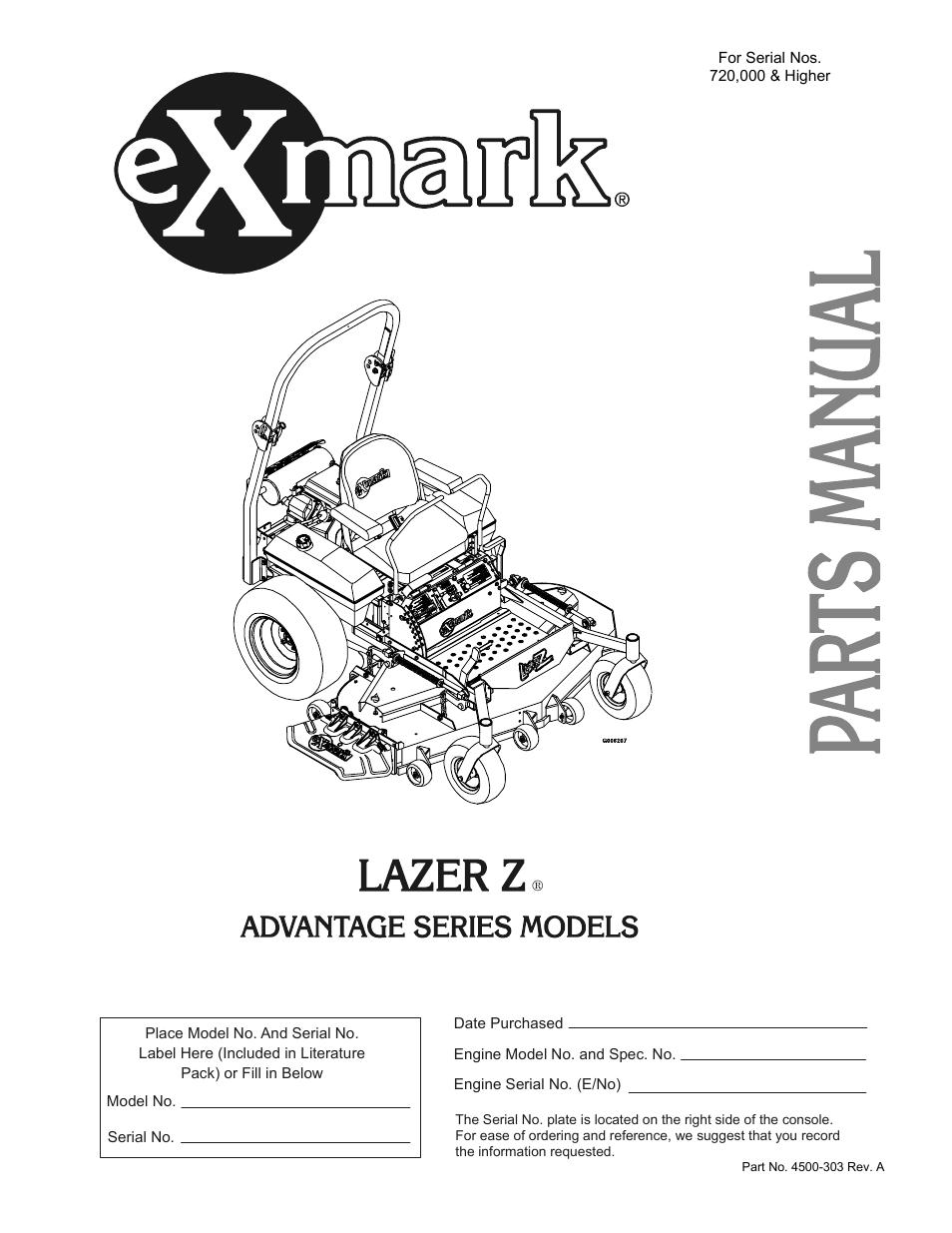 exmark lazer z advantage series user manual 32 pages rh manualsdir com