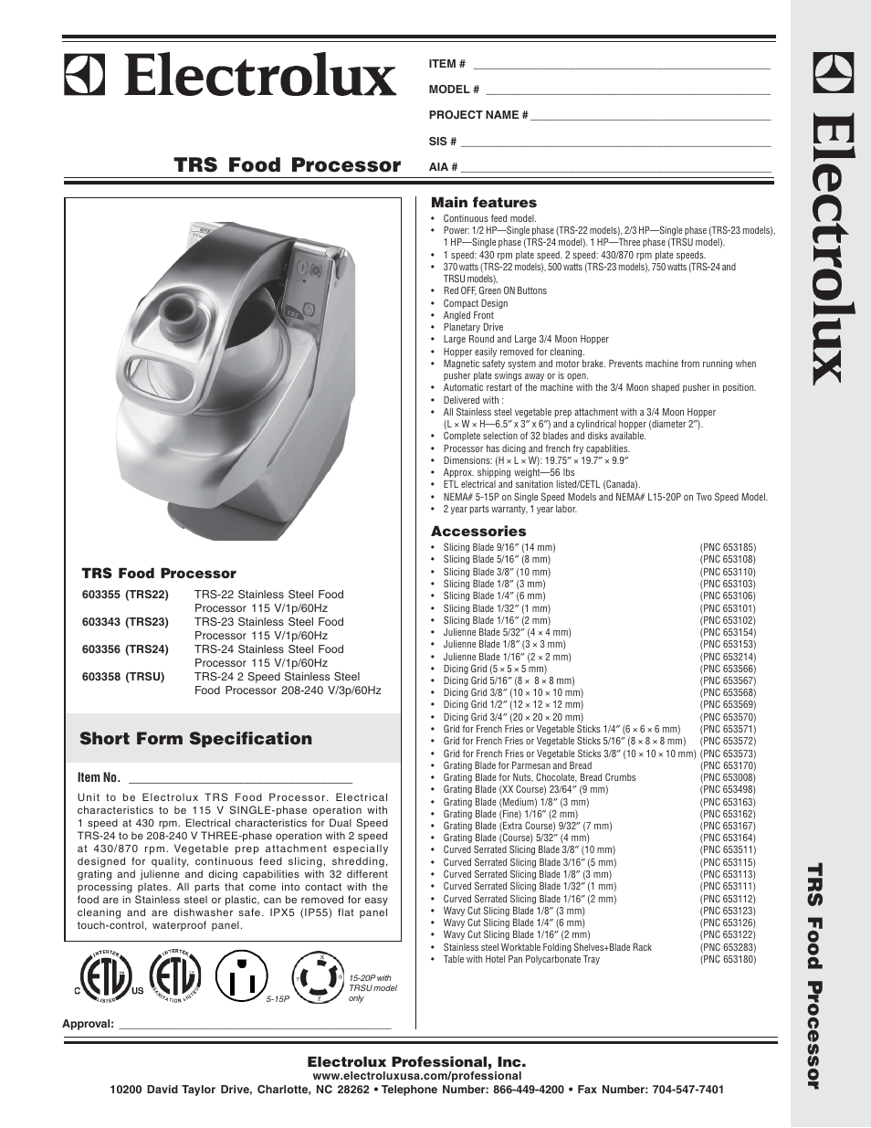 electrolux dito trs22 user manual 2 pages also for dito 603343 rh manualsdir com Electrolux Dito Parts Electrolux Professional North America
