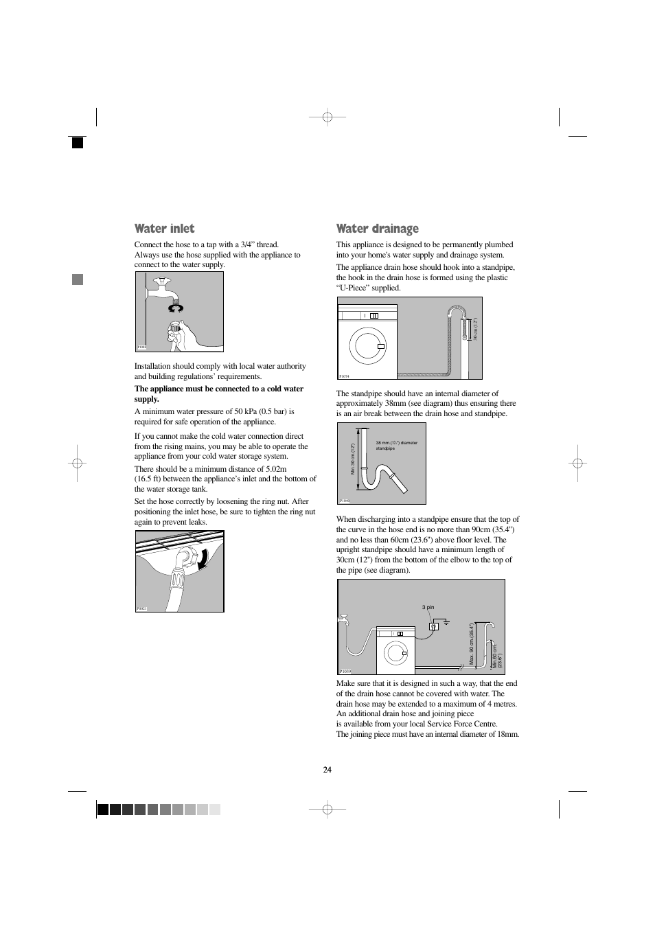 water inlet water drainage electrolux fjdr 1466 s user manual rh manualsdir com Instruction Manual Book User Manual Template