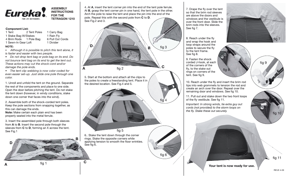 sc 1 st  manualsdir.com & Eureka Tetragon 1210 User Manual | 2 pages