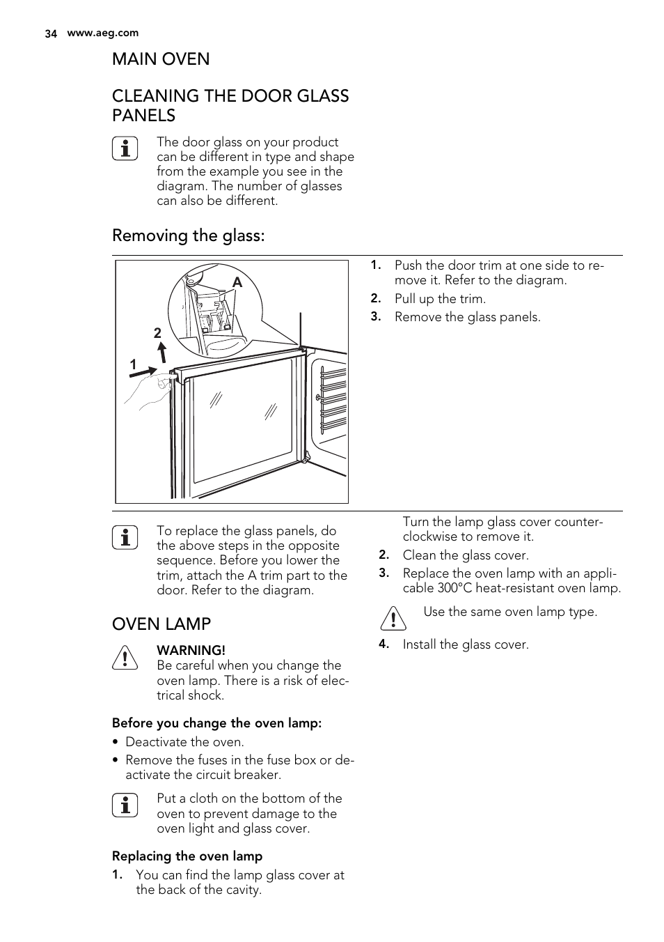 main oven cleaning the door glass panels removing the glass oven rh manualsdir com Instruction Manual Example User Manual Template