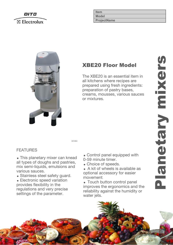 planetary mixer instructions