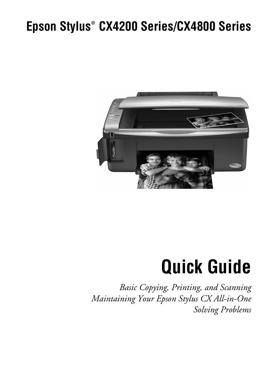 epson stylus cx4200 user manual