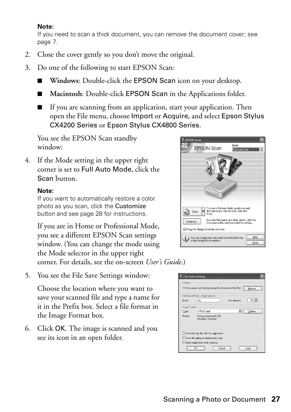 Epson Stylus CX4200 User Manual | Page 27 / 48