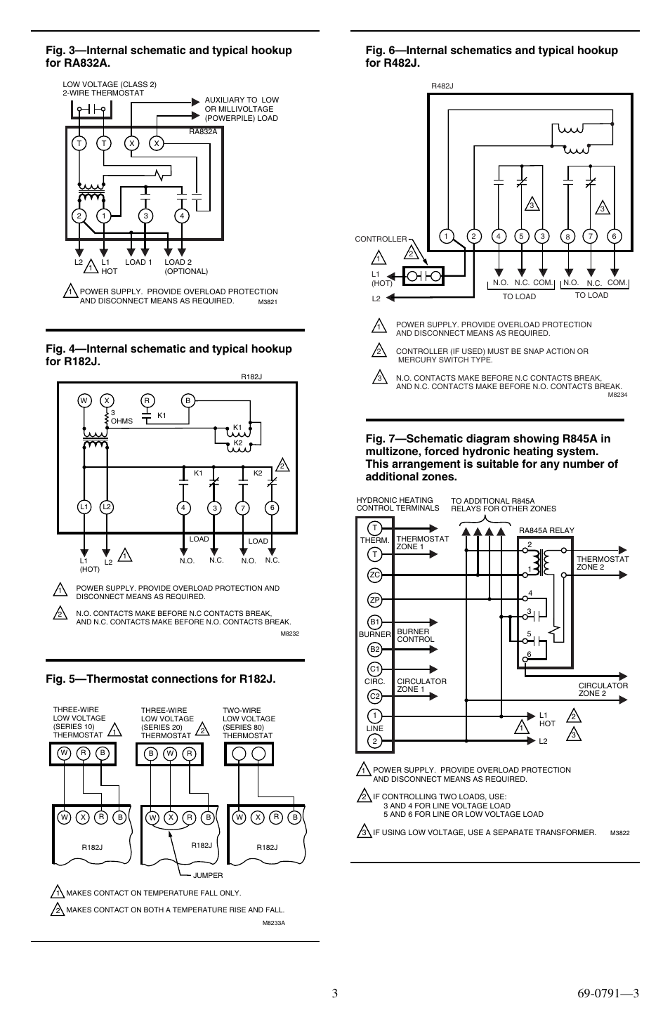 Fig  5 U2014thermostat Connections For R182j