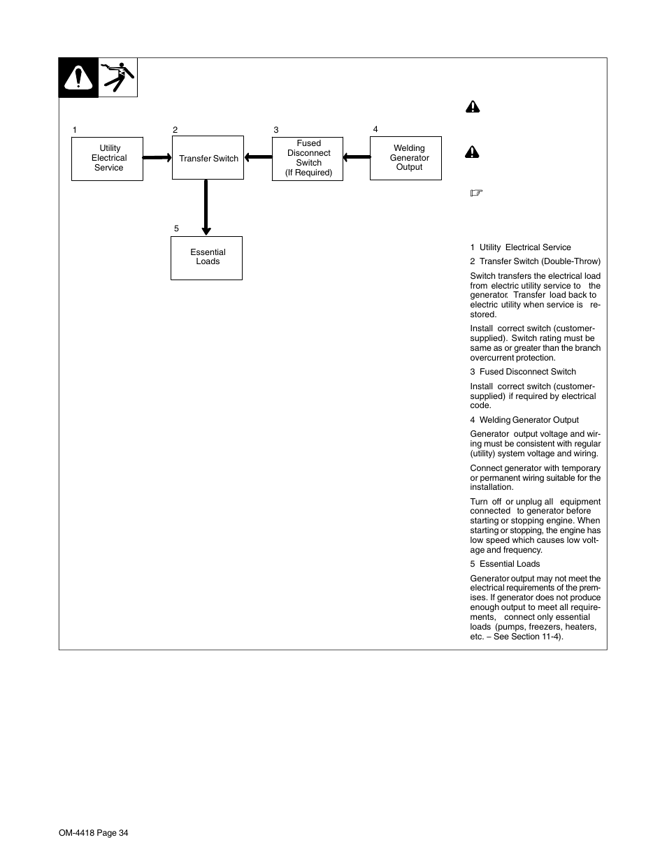 Typical Wiring Diagram Welder Generator Page 5 Welding Avr Schematic Diagrams Source 10 Connections To Supply Standby Power Hobart Rh Manuair Com Parts