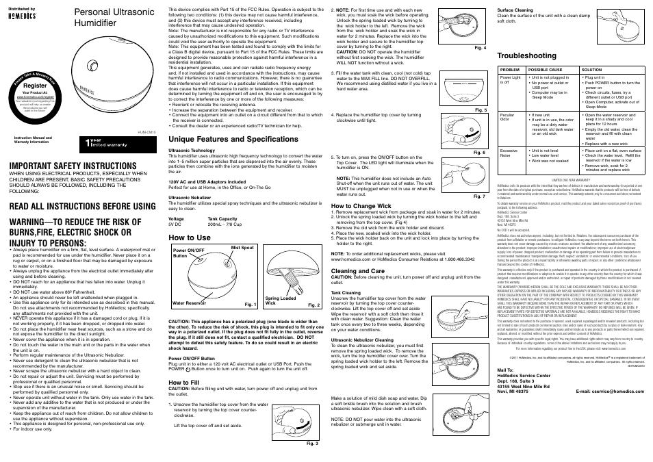 ultrasonic cool mist humidifier instructions