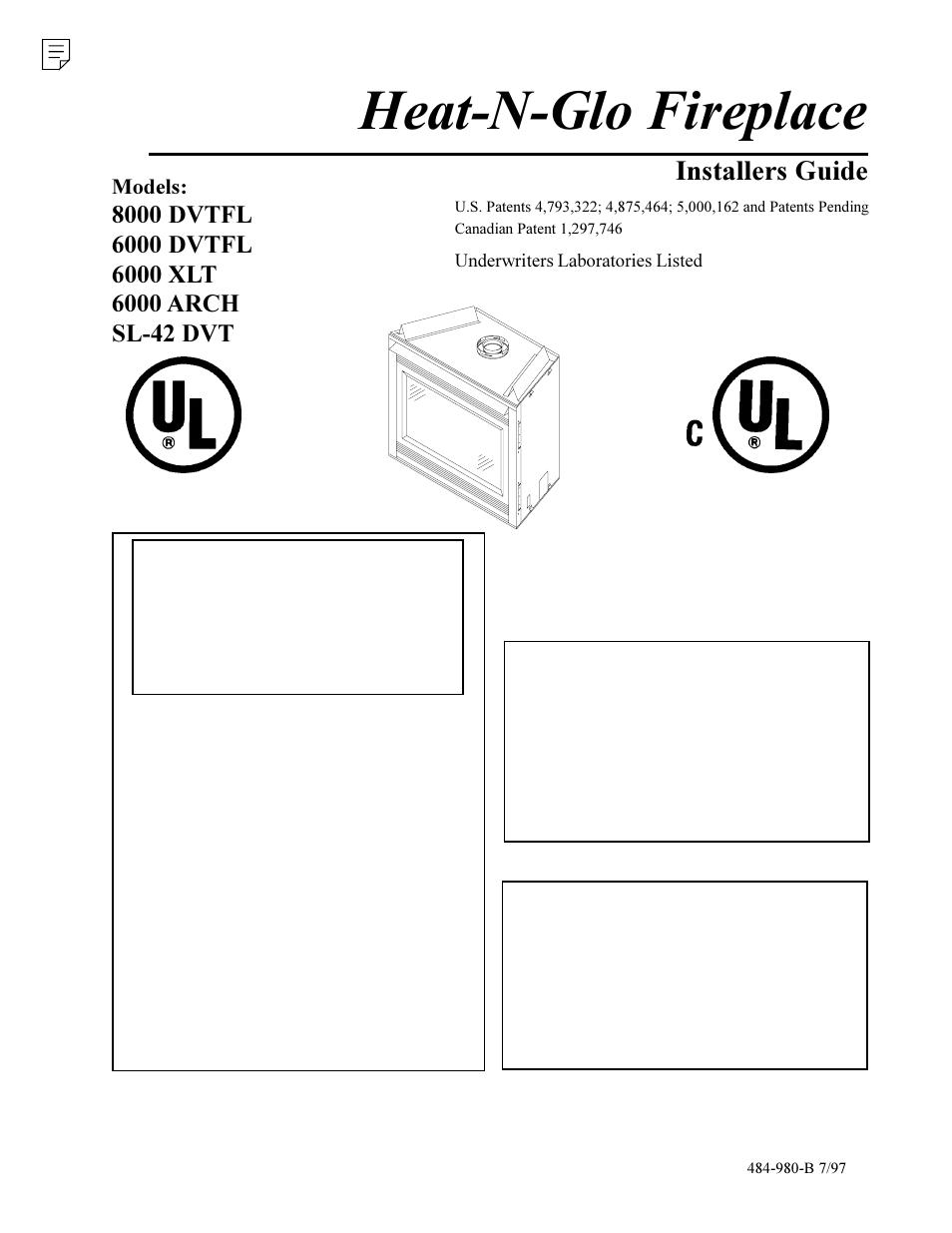 Heat  U0026 Glo Fireplace 6000 Xlt User Manual