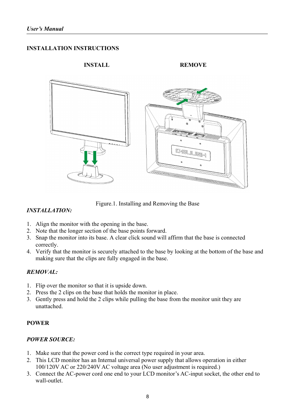 Installation Instructions Power Hannsg Hh221 User Manual Page 120v Ac Supply Wiring Diagram 8 23