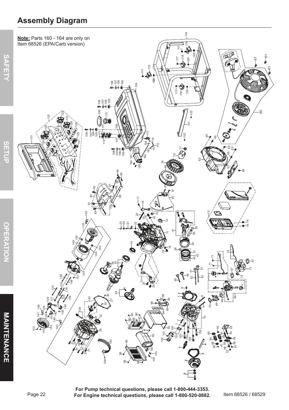 assembly diagram  safety o pera tion m aintenance setup