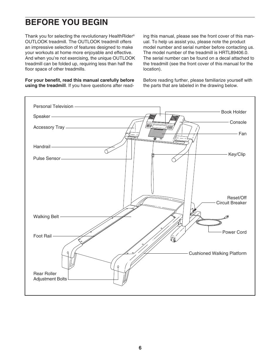 Healthrider hrtl89406. 0 user's manual | manualzz. Com.