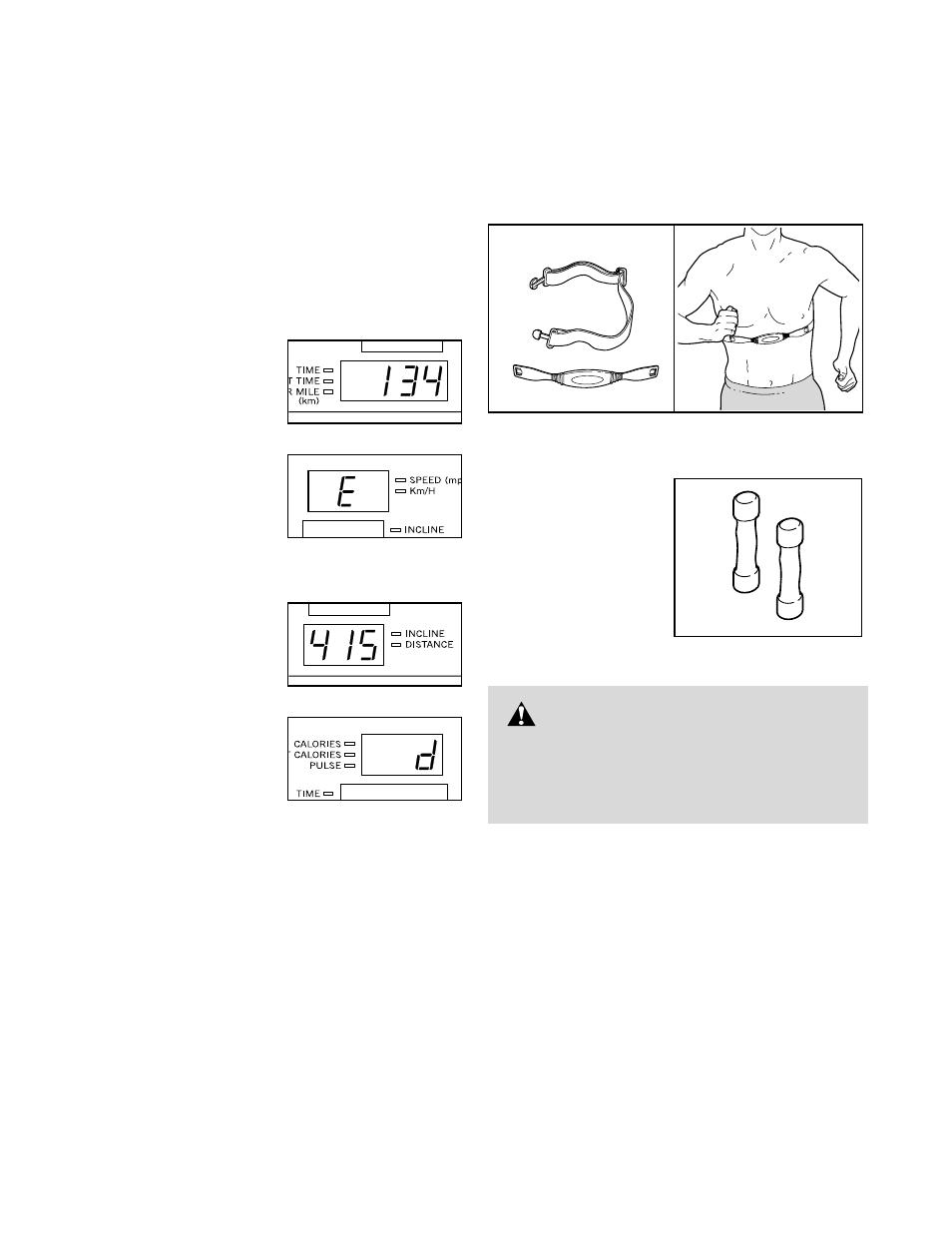 Warning | Healthrider T90 User Manual | Page 21 / 34