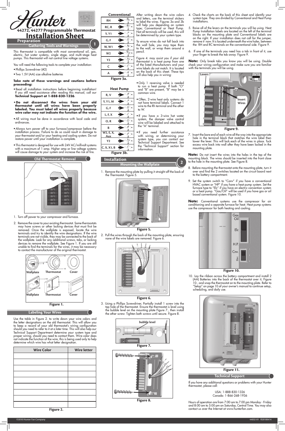 hunter fan 44277 page1 hunter thermostat wiring diagram 44272 efcaviation com hunter thermostat 44665 wiring diagram at mifinder.co