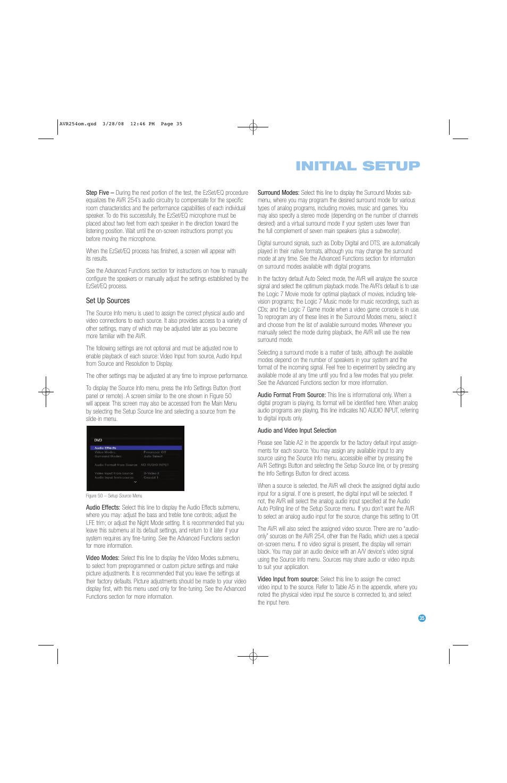 initial setup harman kardon avr 254 user manual page 35 76 rh manualsdir com Harman Kardon AVR 254 avr 254 manual pdf