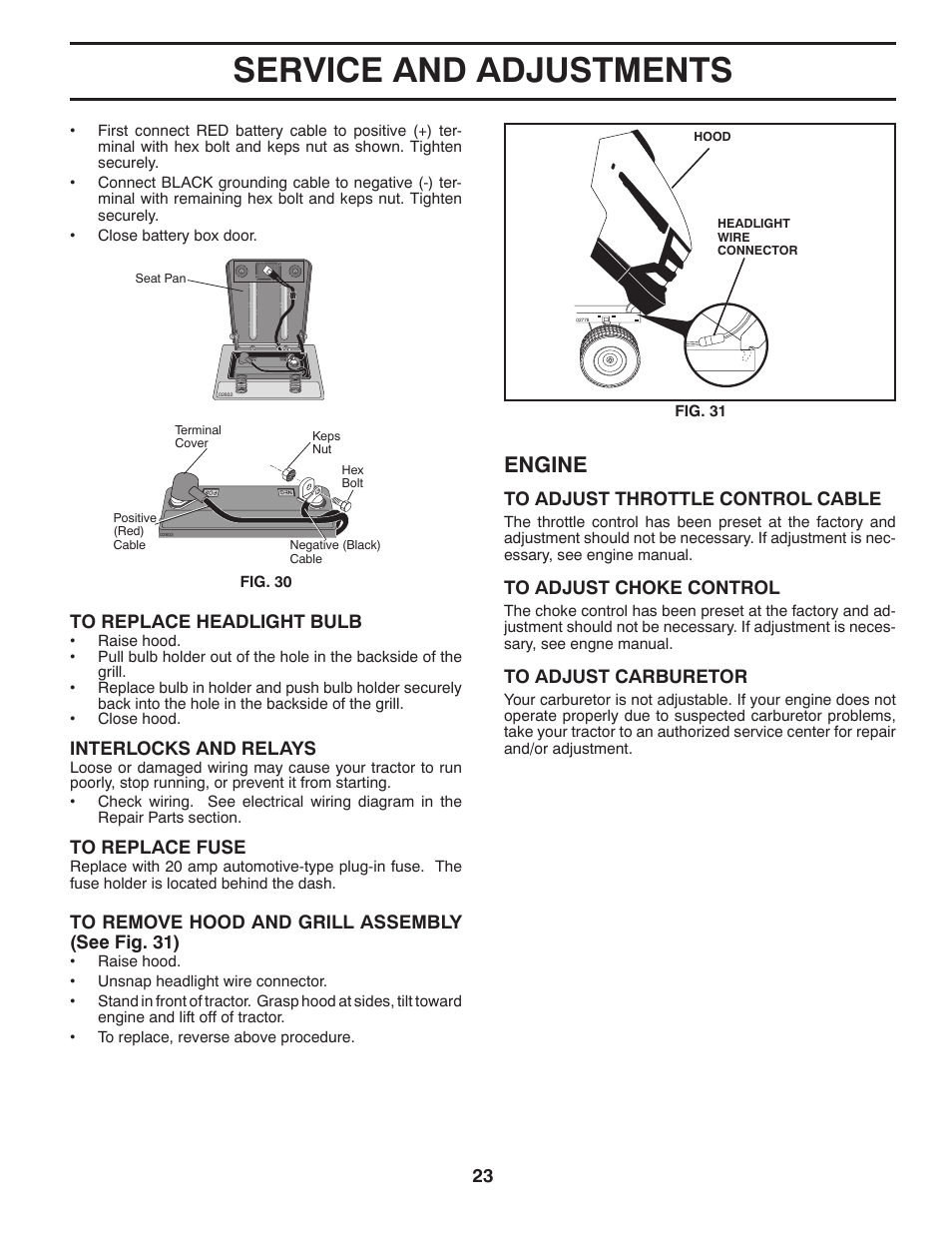 Service And Adjustments Engine Husqvarna 2246ls User Manual Wiring Diagram Page 23 44