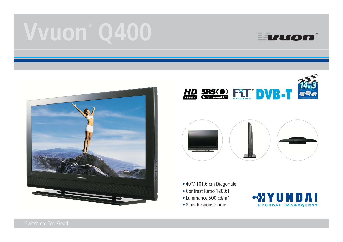 Hyundai VVUON Q400 User Manual | 2 pages