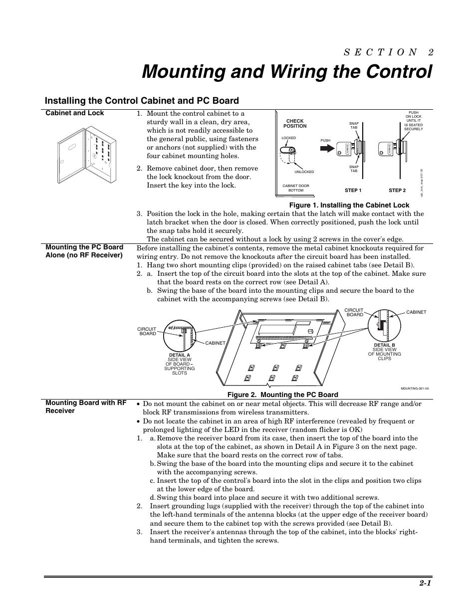 mounting and wiring the control installing the control. Black Bedroom Furniture Sets. Home Design Ideas