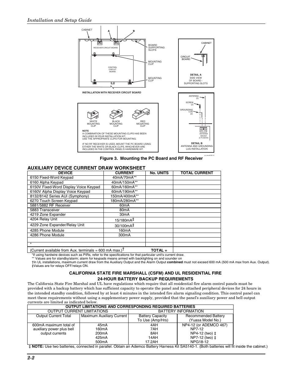 auxiliary device current draw worksheet installation and setup rh manualsdir com ADT Ademco Manual ademco 4229 installation manual
