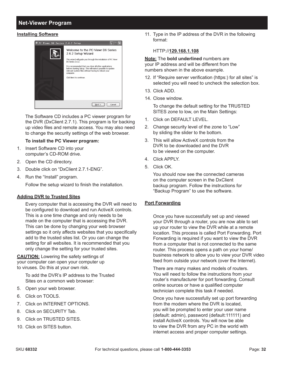 Harbor Freight Tools BUNKER HILL SECURITY 68332 User Manual | Page