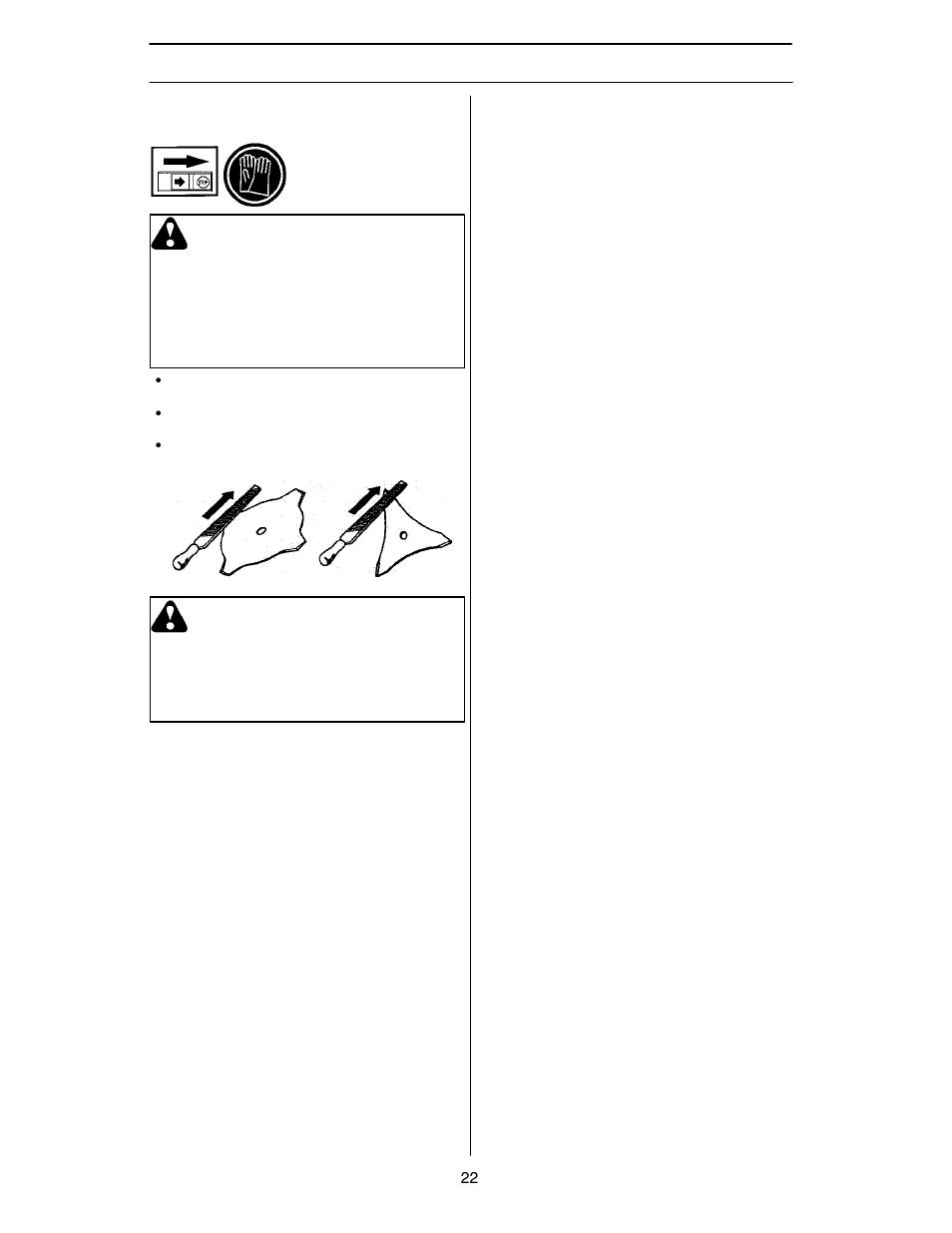 Maintenance, Sharpening grass cutters and grass blades, Warning   Husqvarna  125R User Manual  