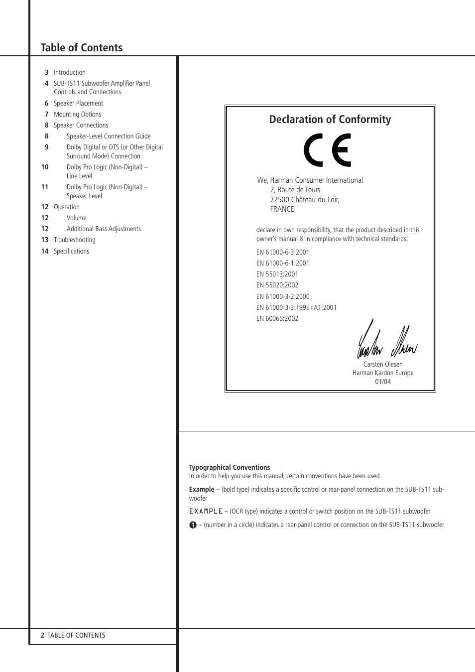Harman kardon hkts 11 user manual page 2 15 original mode harman kardon hkts 11 user manual page 2 15 publicscrutiny Choice Image