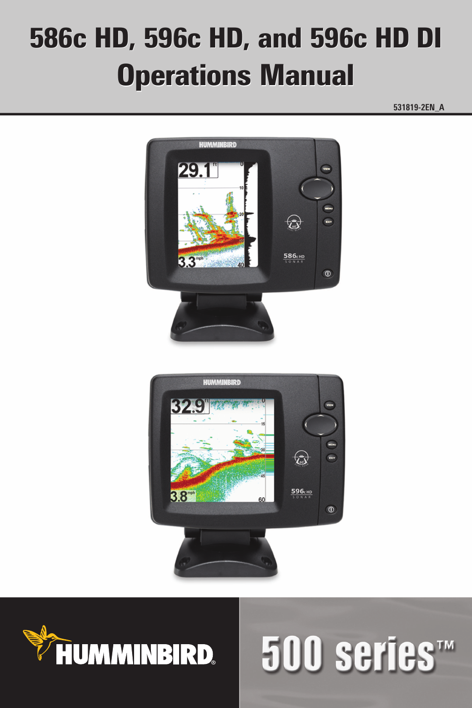 Humminbird 596C HD DI User Manual | 96 pages | Also for: 586C HD