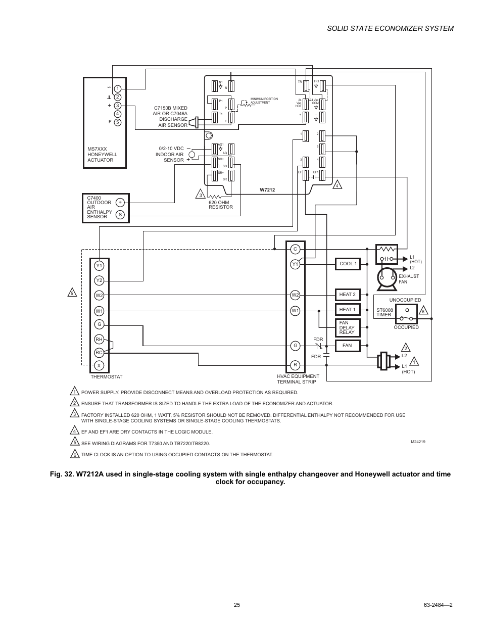 Solid state economizer system | Honeywell M8405 User Manual | Page 25 / 32