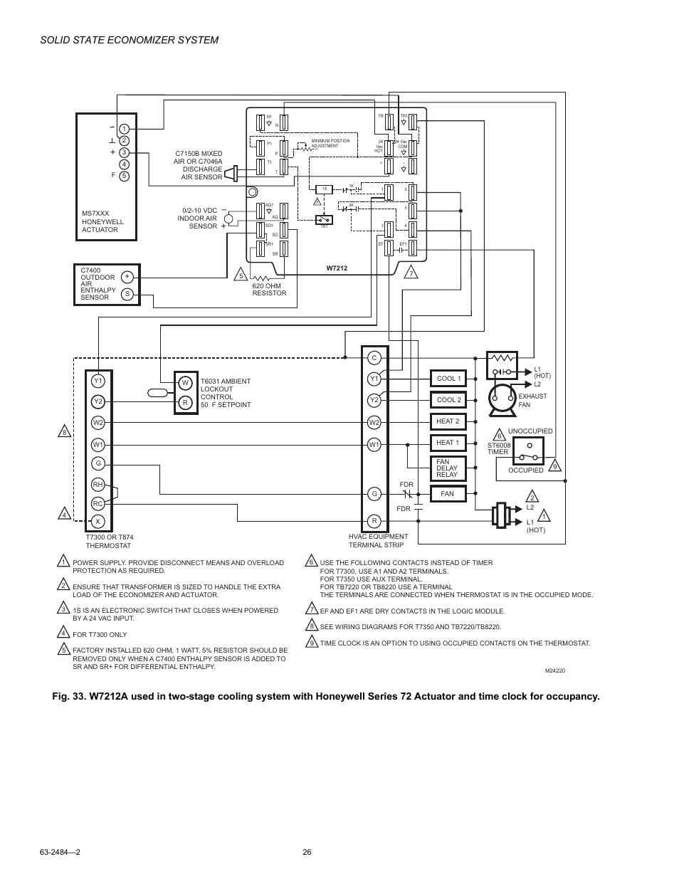 Honeywell T7300 Wiring Diagram 30 Images Economizer M8405 Page26 Solid State System User Manual Page