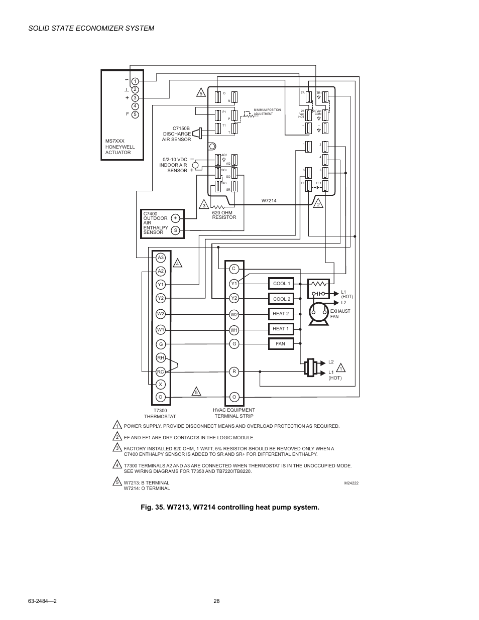 honeywell m8405 page28 solid state economizer system honeywell m8405 user manual page economizer wiring diagram at gsmx.co