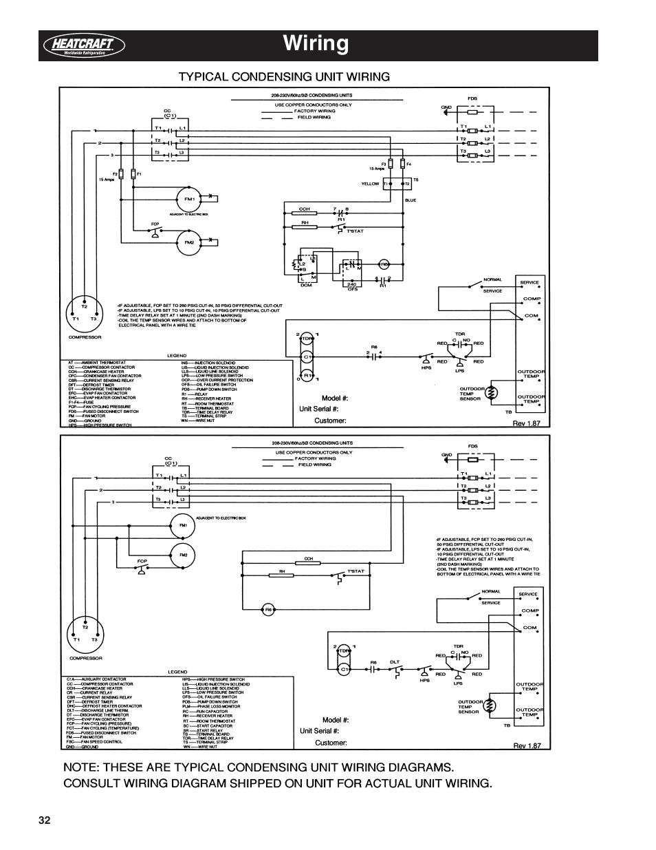 Heatcraft Condensing Unit Wiring Diagram
