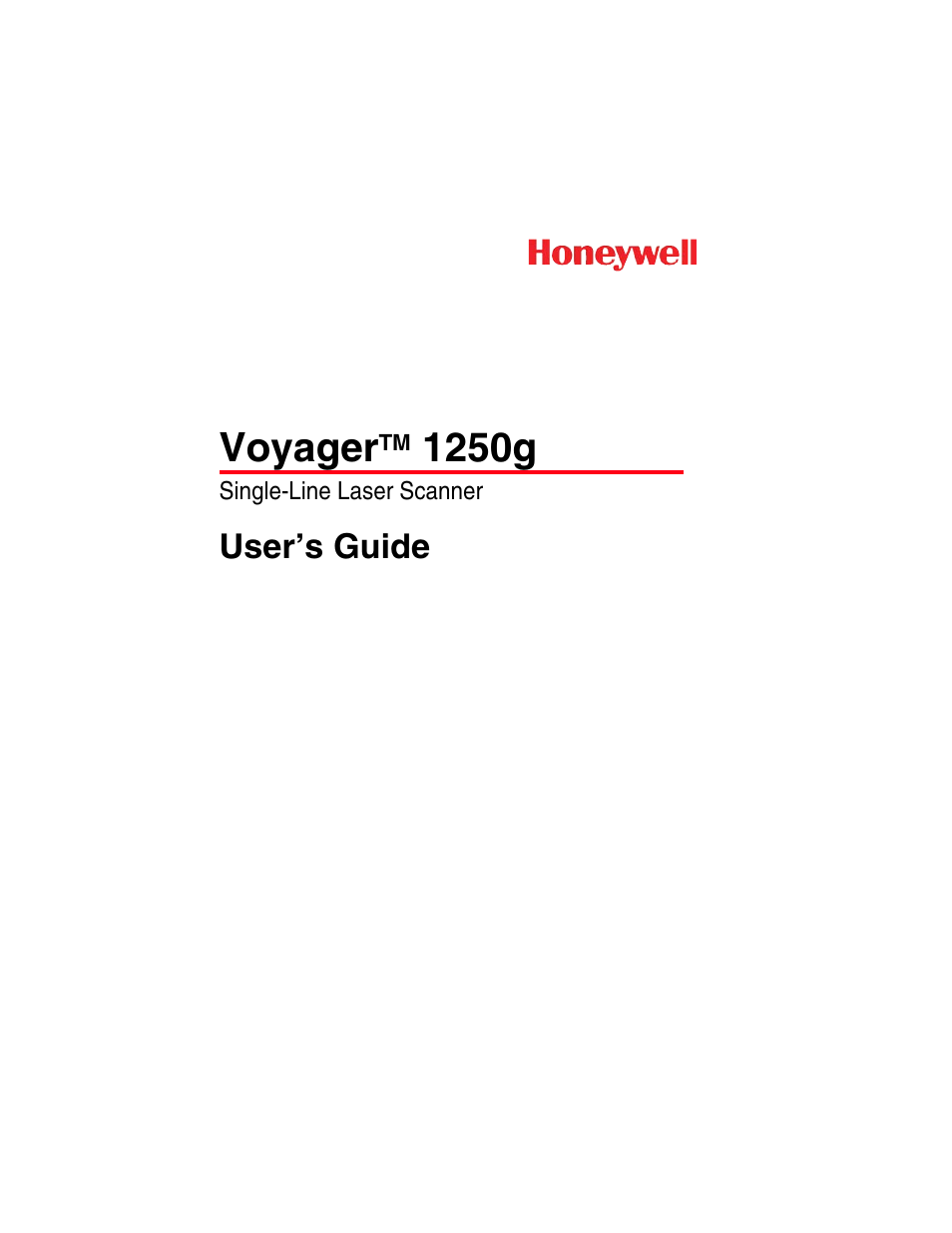 Honeywell VOYAGER 1250G User Manual | 240 pages