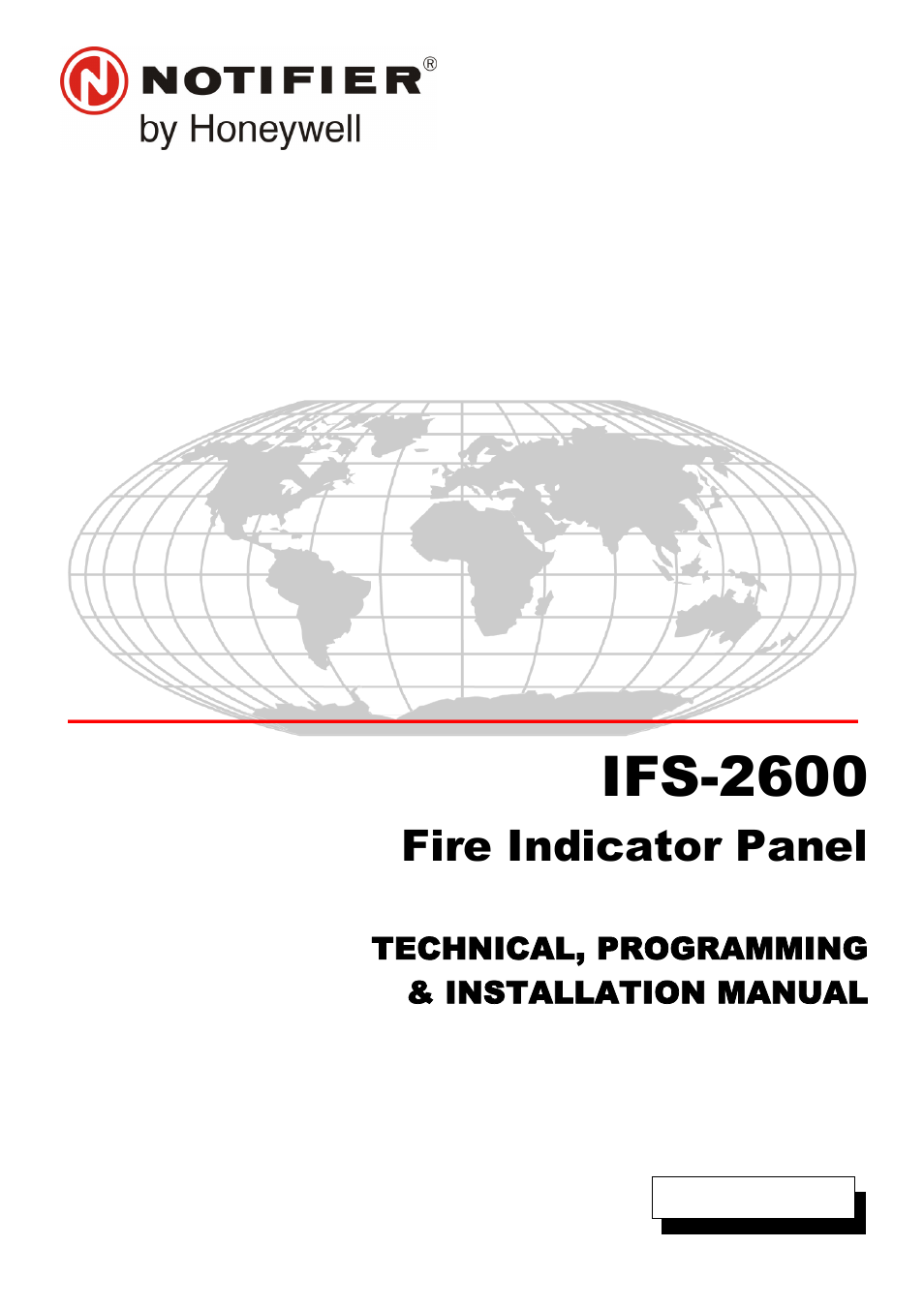 Honeywell NOTIFIER IFS-2600 User Manual | 80 pages