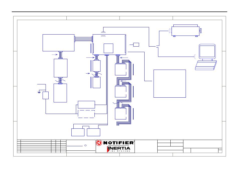 Block connection diagram, Drg  no | Honeywell NOTIFIER IFS
